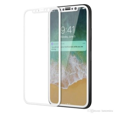 TEMPERED GLASS SCREEN PROTECTOR 5D APPLE IPHONE X IPHONE XS WHITE