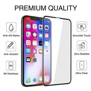 TEMPERED GLASS SCREEN PROTECTOR 5D APPLE IPHONE XR BLACK