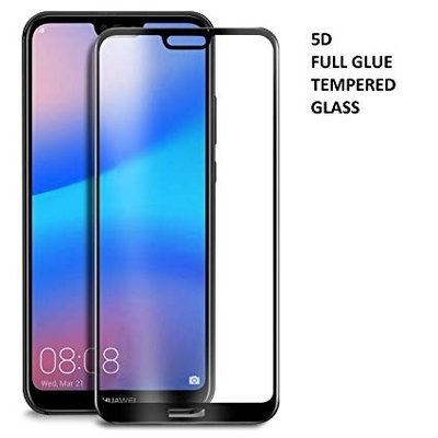 TEMPERED GLASS SCREEN PROTECTOR 5D HUAWEI P20 LITE BLACK