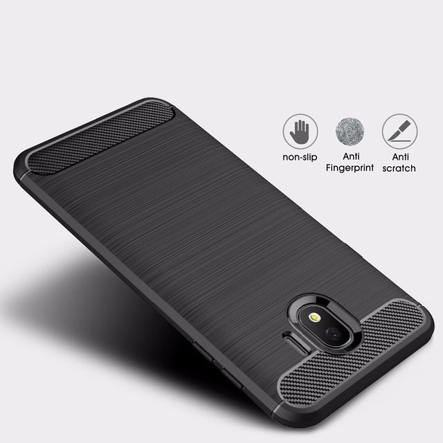 SILICONE CASE CARBON SAMSUNG GALAXY J4 (2018) J400 BLACK