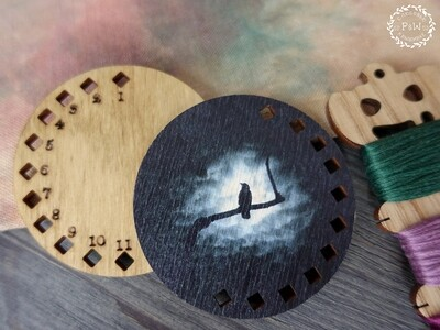 """Органайзер-крошка """"Ворон на фоне луны"""" 00304"""