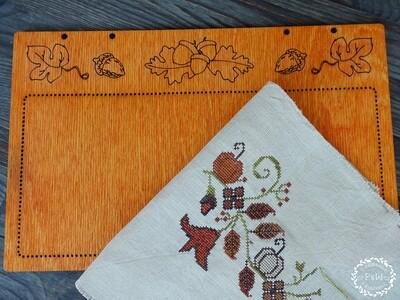 """""""Осенняя панелька"""" для оформления вышивки, рыжая 00343"""