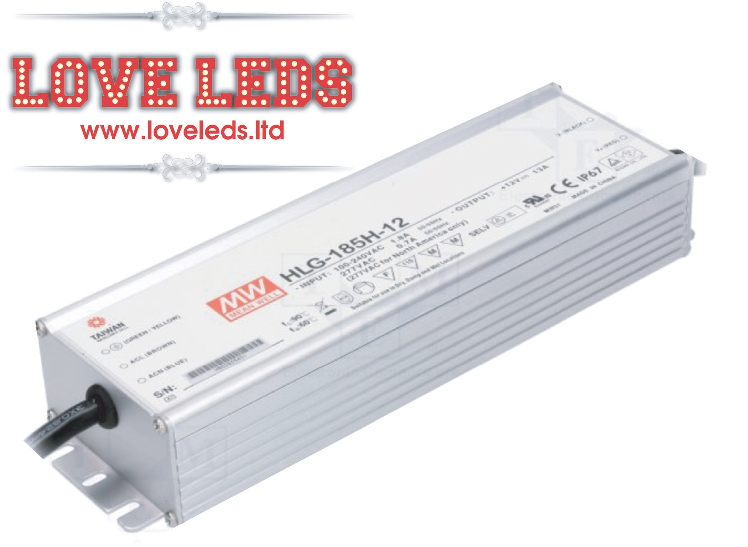MeanWell HLG-185H-24A