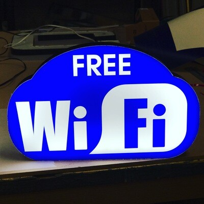 12v or 24v Illuminated Free Wifi Sign