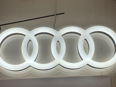 12v or 24v Illuminated Large Audi Rings
