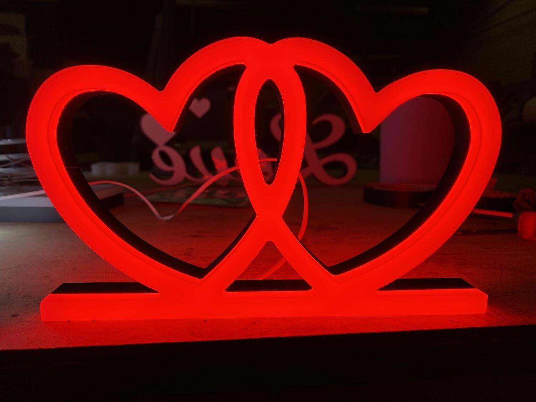 12v or 24v Illuminated Love Hearts