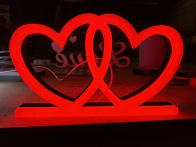 12v or 24v Illuminated Love Hearts