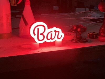 12v or 24v Illuminated Bar Sign