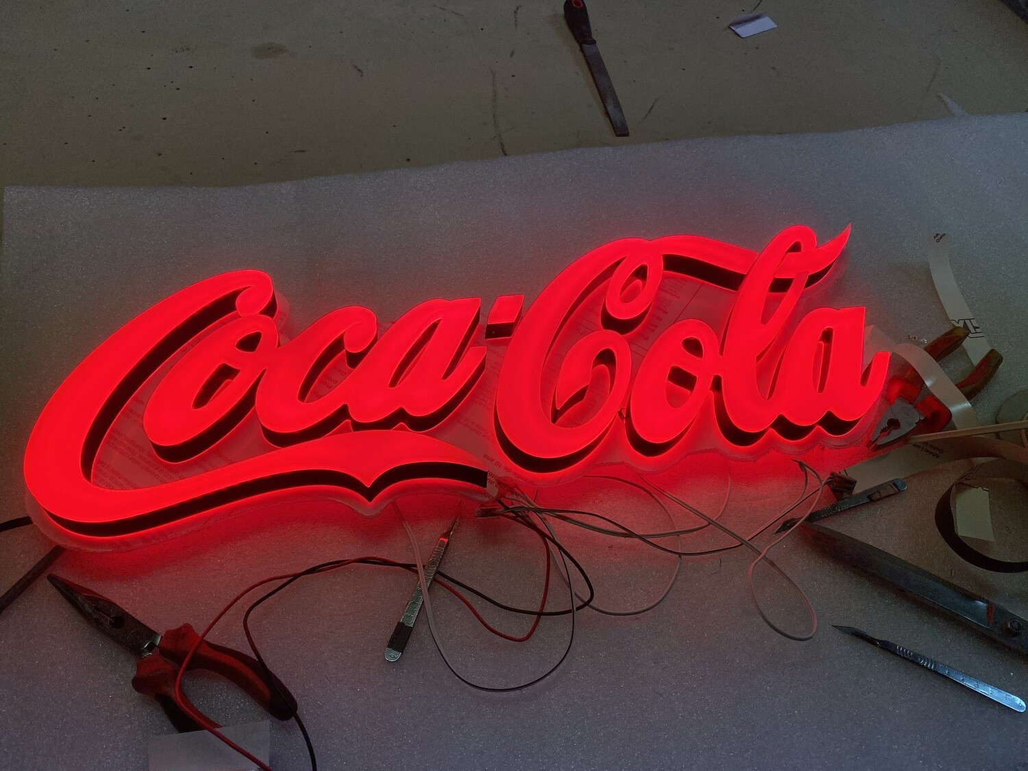 12v or 24v Illuminated Coca Cola Sign