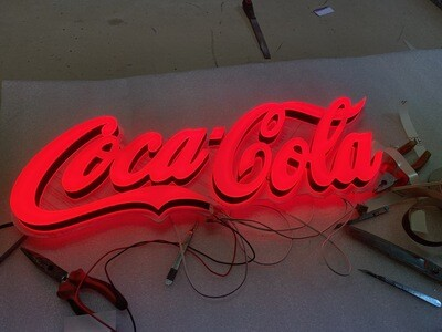 12v or 24v Illuminated Coca Cola Sign