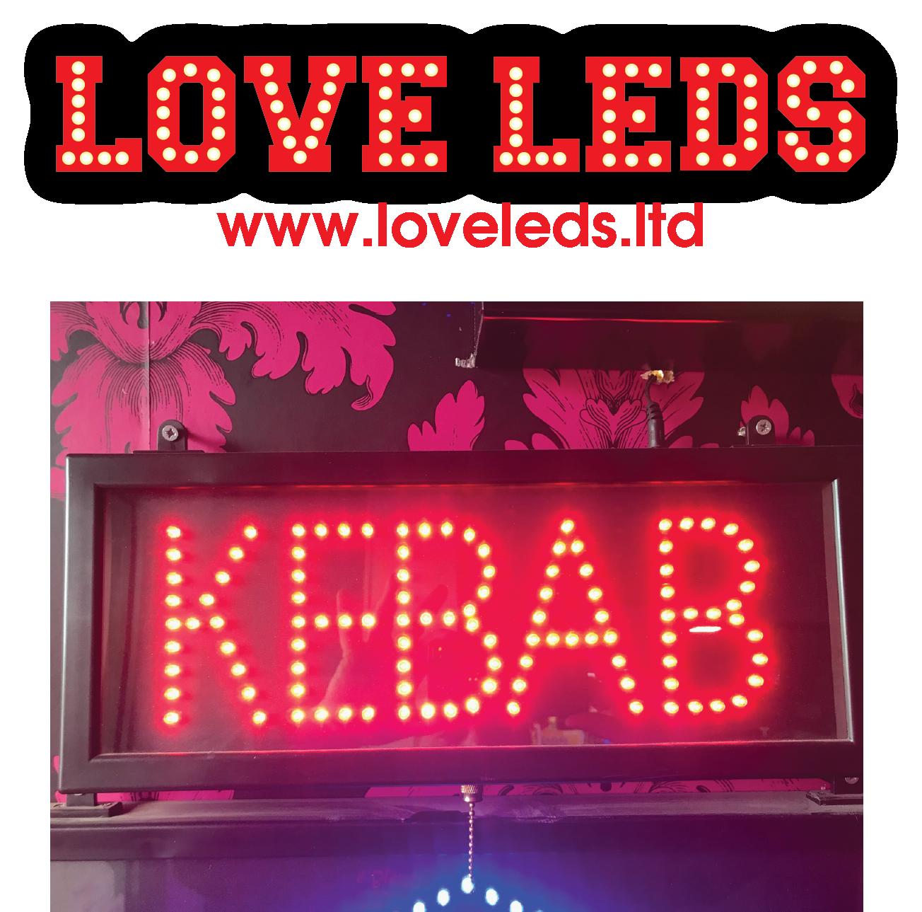 Flashing Kebab Sign LED