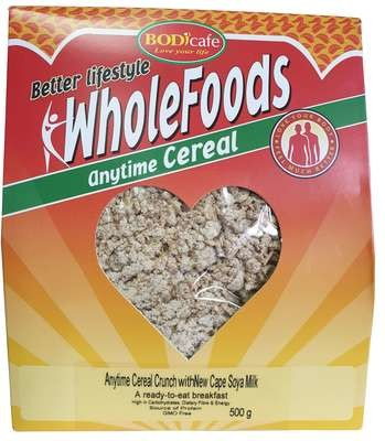 Anytime Cereal Crunch With New Cape Soya Milk 500g