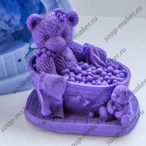 Тедди в ванне 3D