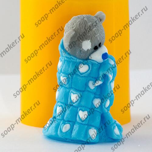 Тедди в одеяле 3D