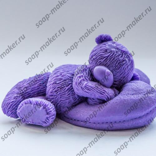 Тедди на подушке 3D