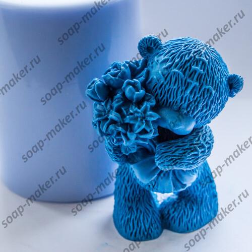 Тедди с букетом 3D