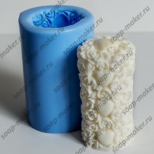 Цилиндр из роз