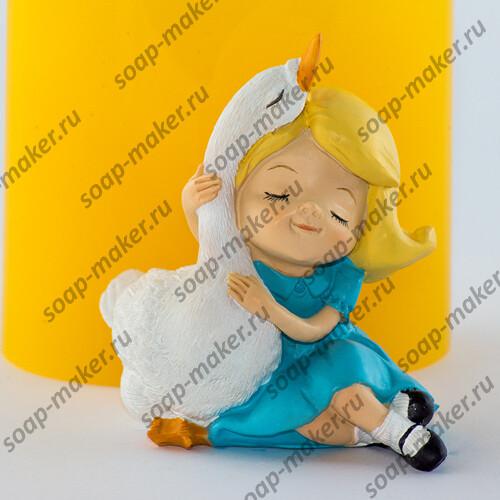 Девочка с гусем 3D