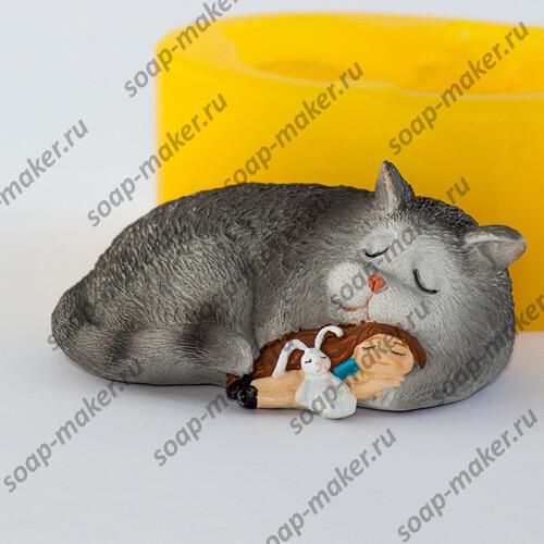 Девочка и кот 3D