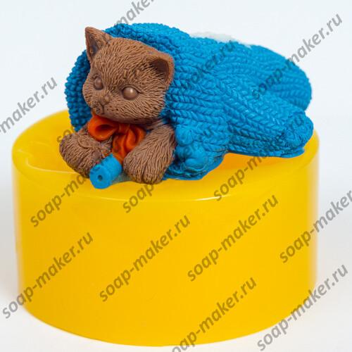 Котенок в варежке 3D