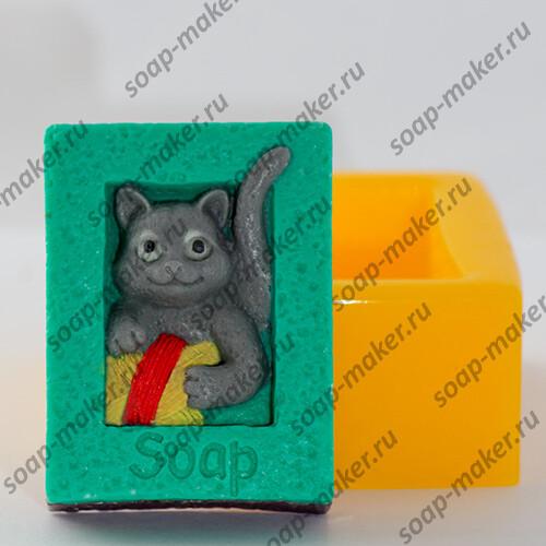 Кот с клубком 2D