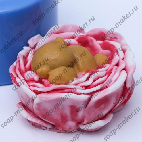 Мишка в цветке 3D