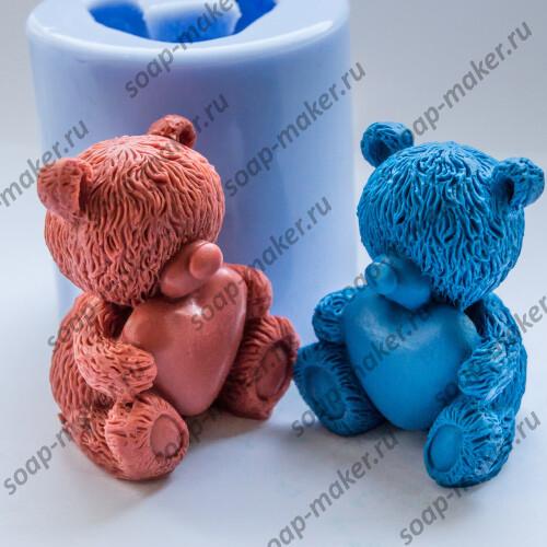 Мишка с сердцем 3D