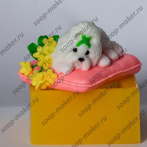 Песик на подушке 3D
