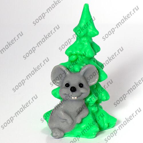 Мышка с елочкой 3D