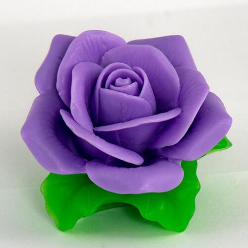 Роза с листочками 2 3D