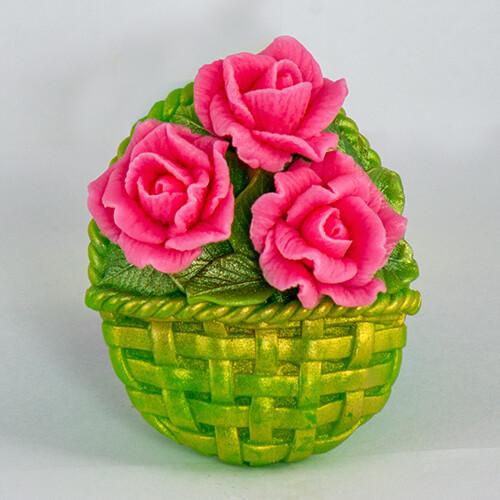Корзинка с цветами 3 2D