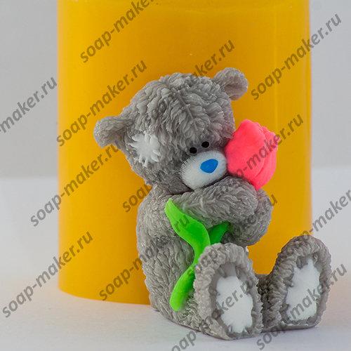 Тедди с розой 3D