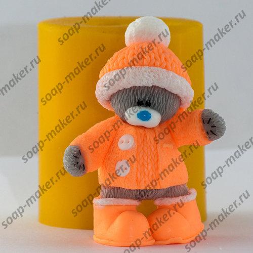Тедди в шапке 3D
