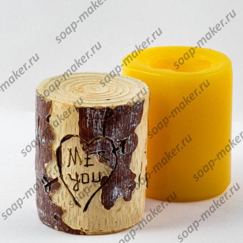 Цилиндр дерево 3D
