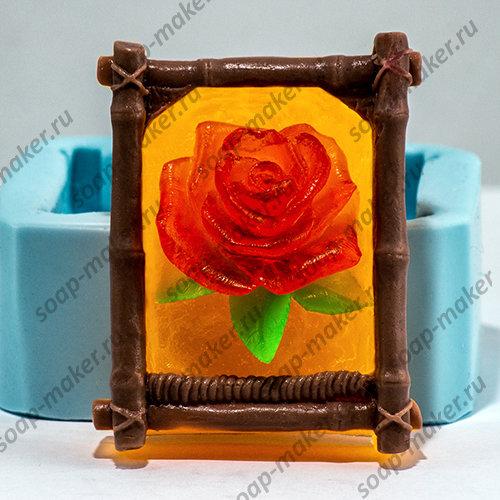 Роза в рамке 2D