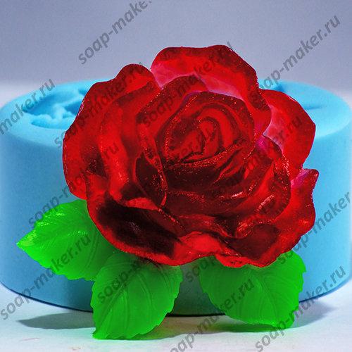 Роза с листочками 2 2D