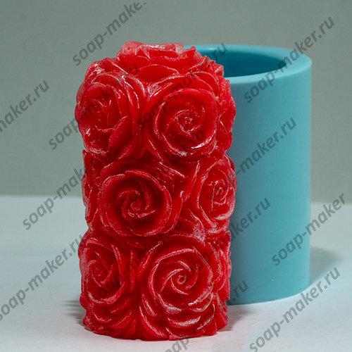 Цилиндр с розами 3D