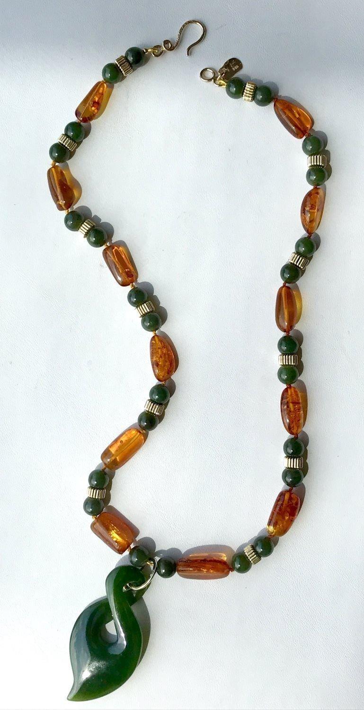 Jade Gem Bar Necklace