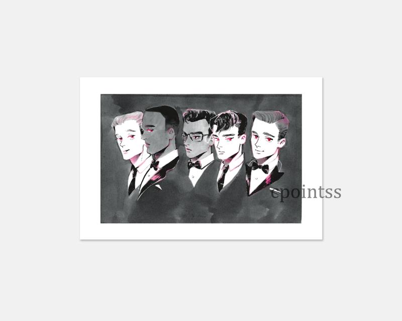 [6 x 4 inch print] Gentlemen