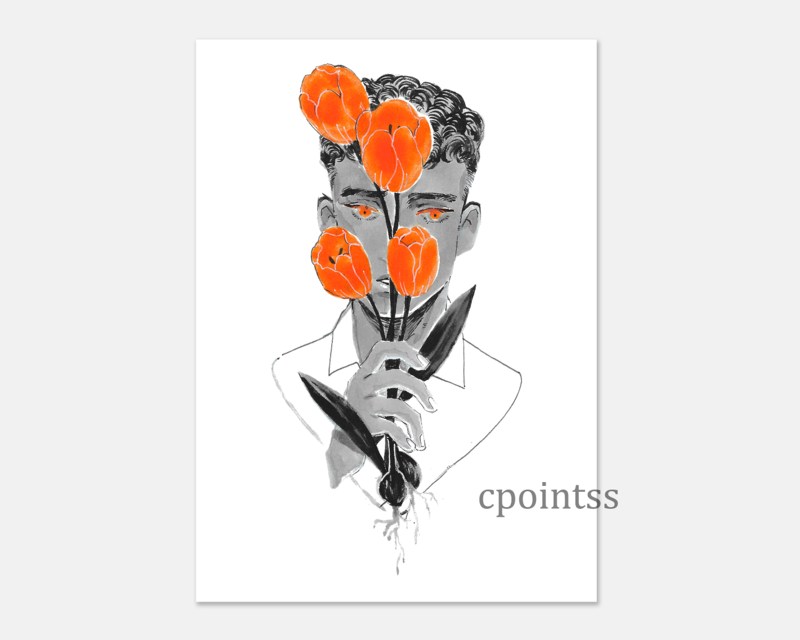 [7 x 5  inch print] Tulip