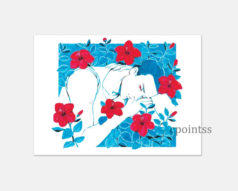 [7 x 5  inch print] Hibiscus