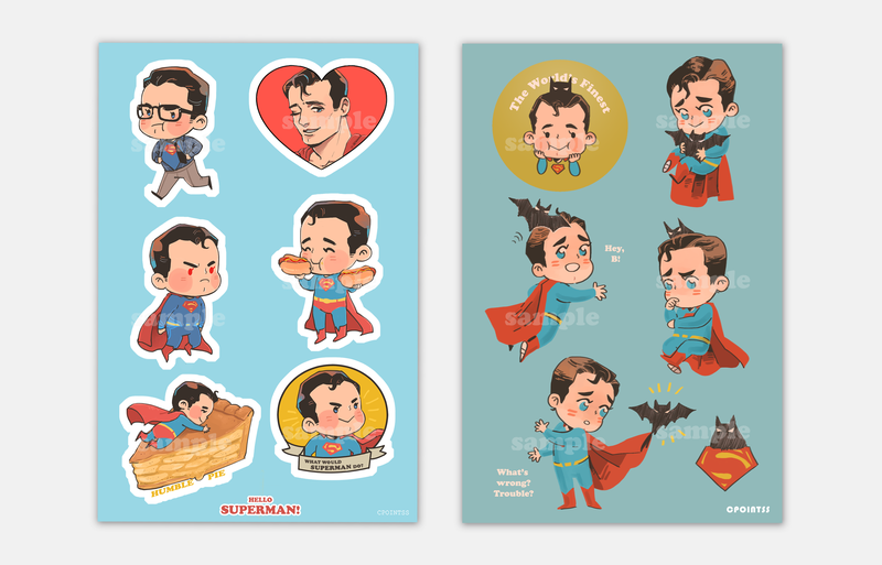 DC Superman/Batman Stickers