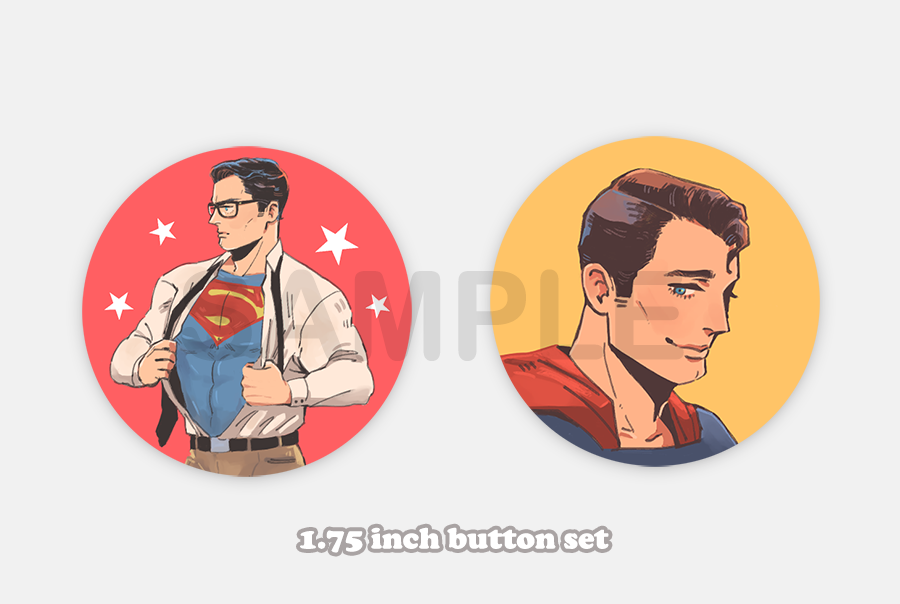 Superman Button Set