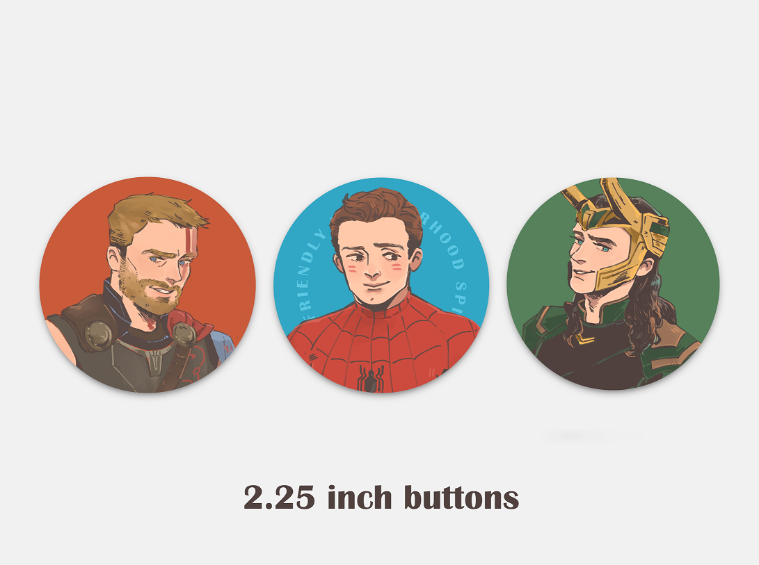 Marvel Buttons