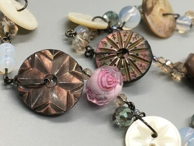 Vintage Mother-of-Pearl Button Necklace