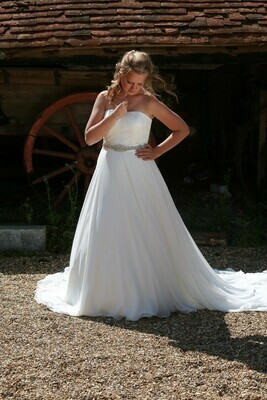 Delilah Chiffon A-line Wedding Dress