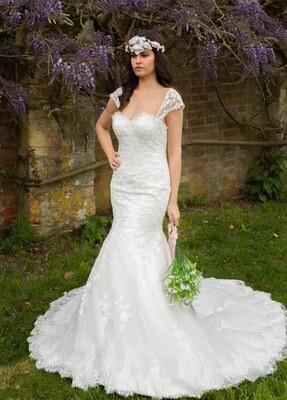 Lavender - Lace Fishtail Wedding Dress
