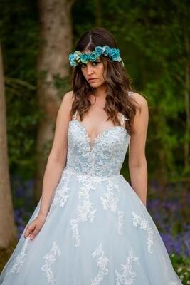 Bleu   Lace A-Line Wedding Dress