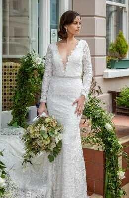 Piper  - Sheath Lace Wedding Dress