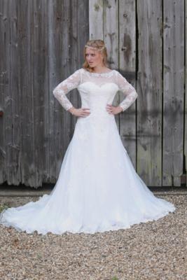 Oceanna - Empire A-Line Lace Wedding Dress